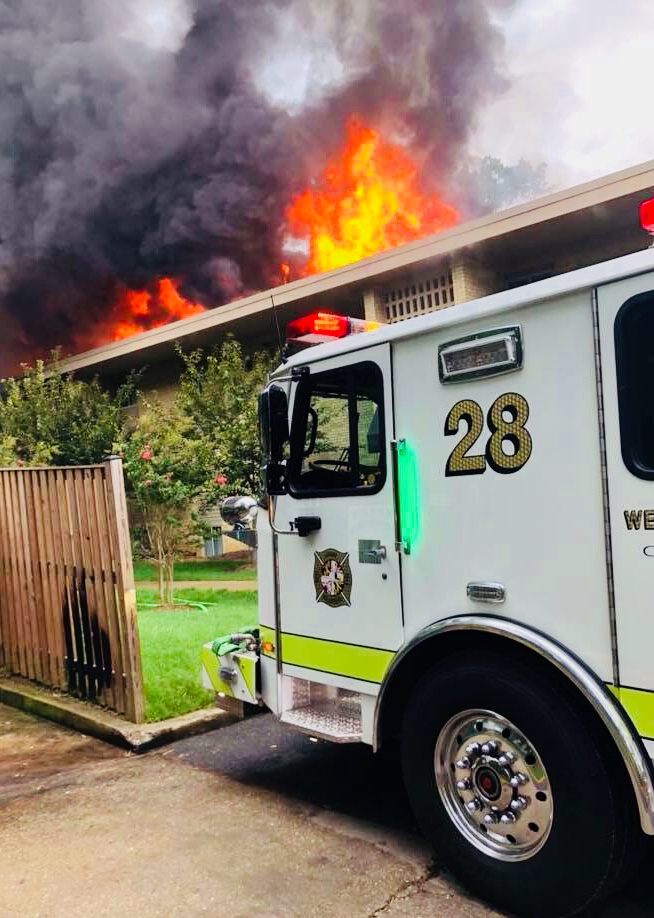 About 3:30pm units were dispatched to the 5300 Blk of 85th Ave. Engine 282 was first due engine and units arrived reporting a working fire and shortly after went to a second alarm. With water supply issues due to the layout of the complex, a third alarm was sounded.